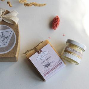Coffret Cœur savon + baume – Fête des mamans