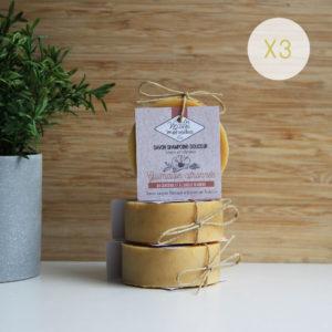 LOT 3 savons shampoing Guimauve citronnée – 3 x 75g