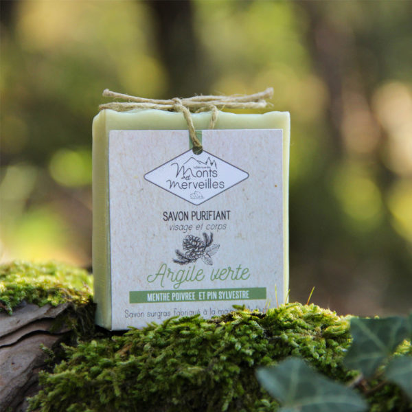 savon argile verte menthe poivree pin sylvestre