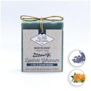 LOT 3 savons Lavande Géranium – 3 x 90 g