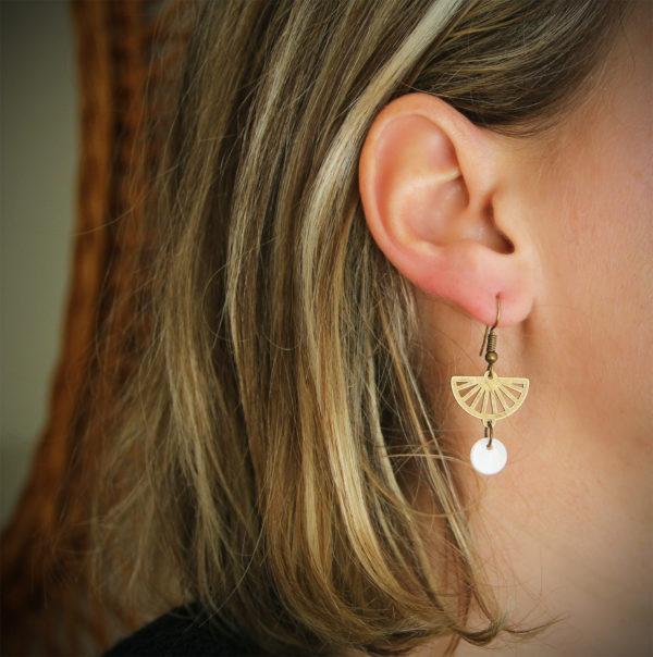 Coffret savon saint valentin boucles d'oreilles