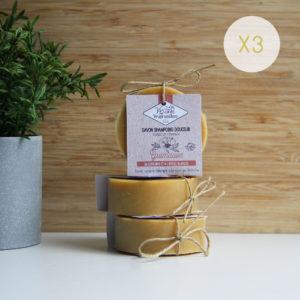LOT 3 savons shampoing Guimauve (sans HE) – 3 x 75g