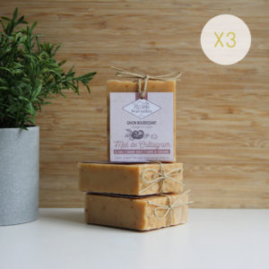 LOT 3 savons Miel de Châtaignier – 3 x 90g