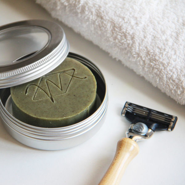 boite savon barbe + boîte rasage