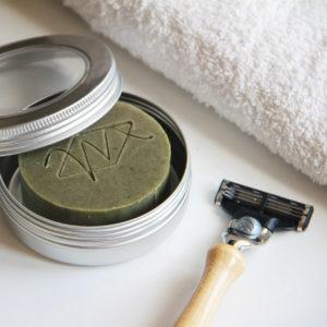 Boîte de rasage pour savon à barbe