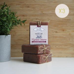 LOT 3 savons Myrtilles Sésame – 3 x 90 g