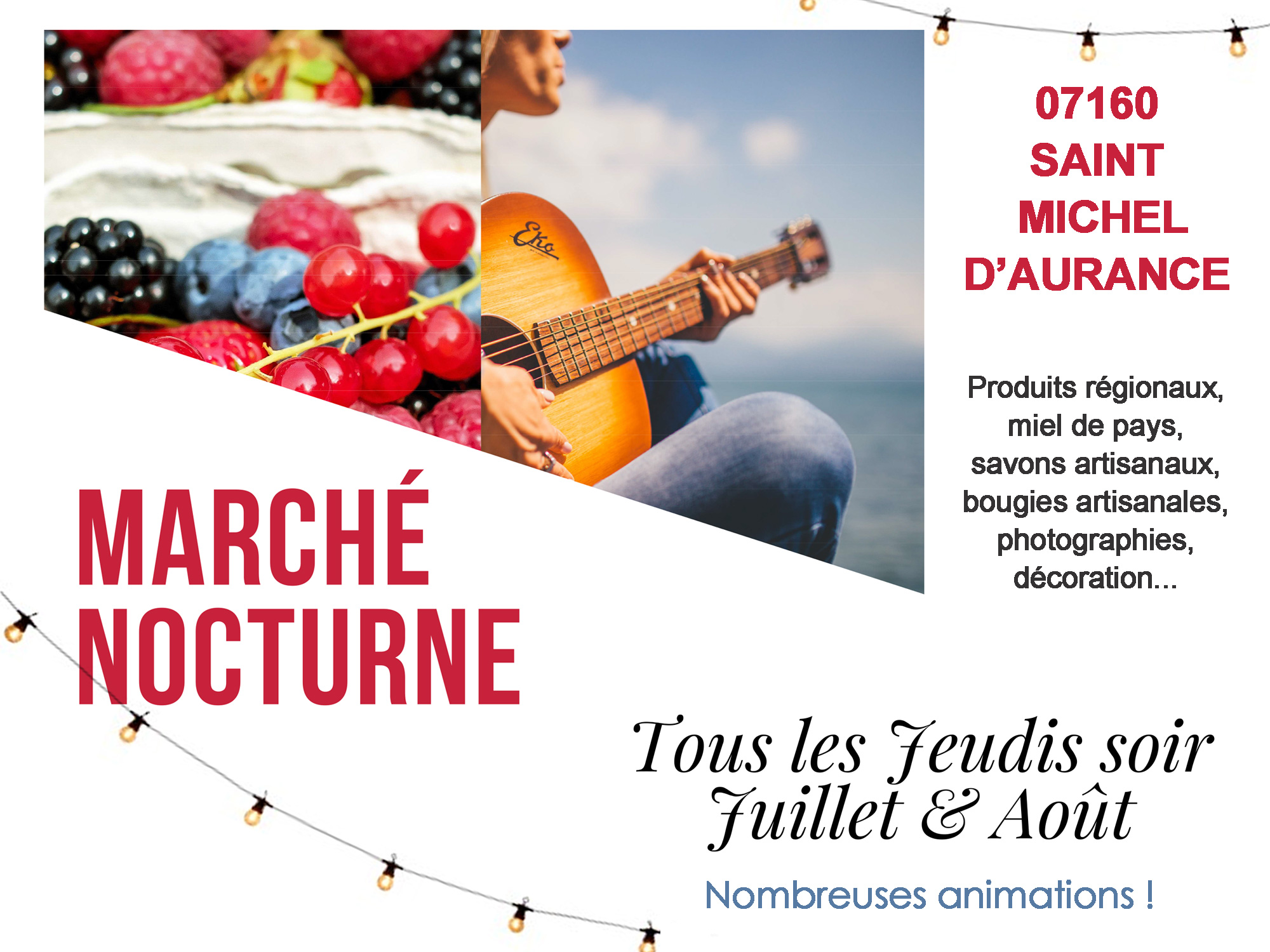 marché nocturne saint michel d'Aurance 2021
