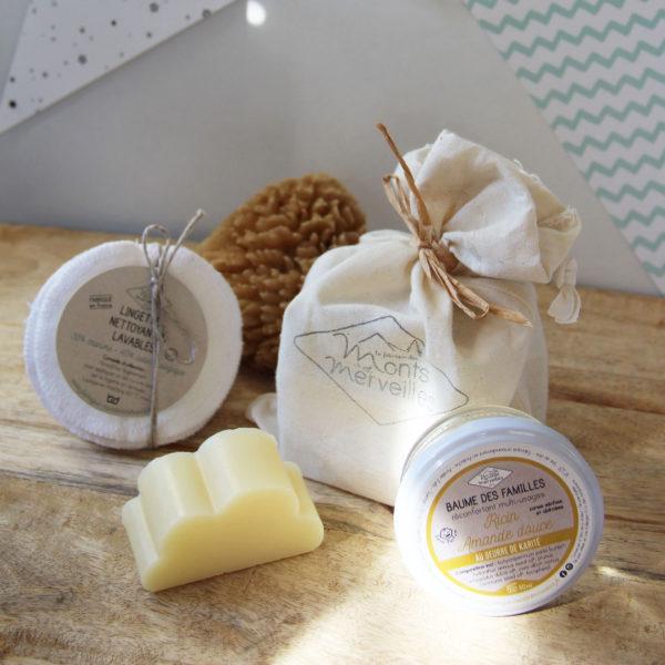 Coffret-naissance savon baume lingettes maman bébé